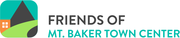 "Full-color logo reading ""Friends of Mt. Baker Town Center"""
